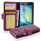 Cadorabo Funda Libro para Samsung Galaxy A5 2015 en Burdeos Violeta - Cubierta Proteccíon con Cierre Magnético e 3 Tarjeteros - Etui Case Cover Carcasa