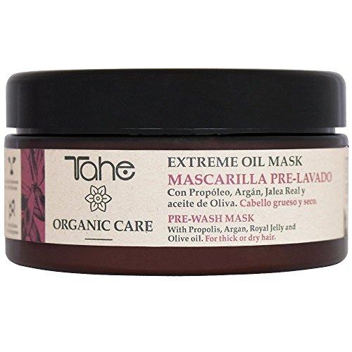 Tahe Mascarilla pre-lavado Extreme Oil Organic Care, Cabello grueso y seco, 300 ml