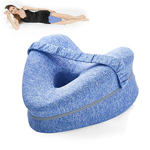 BEAUTRIP Cojín para piernas   Almohadas ergonómicas para Dormir Laterales   Almohada viscoelástica de Apoyo para Las Rodillas para Personas Que Duermen de Lado