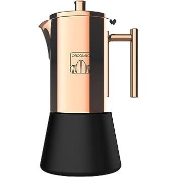Cecotec Cafetera italiana Moking 1000.Acero inoxidable, diseño elegante, apta para lavavajillas, capacidad 500 ml, apta para cocina de inducción, gas, eléctrica o vitrocerámica: Amazon.es: Hogar
