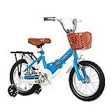 FUFU Prima De Seguridad Bici del Deporte De Los Niños Que Tienen El Pino Y Accesorios, Apto For Niños De 2-13 (Color : Blue, Size : 16in)