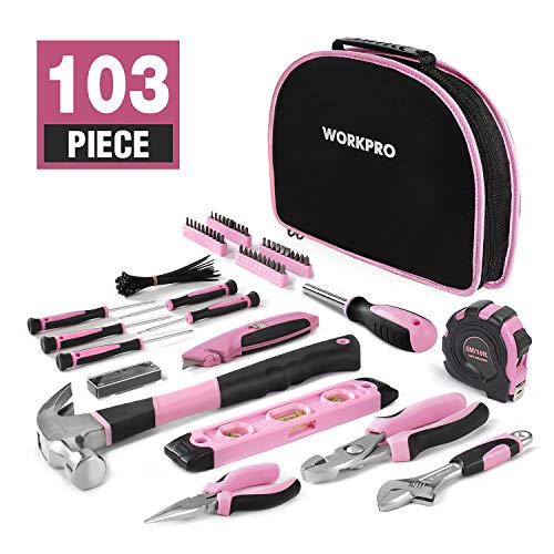 WORKPRO Kit dOutils Pink...
