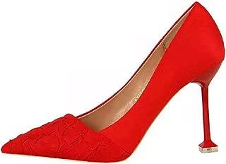 THE LONDON STORE Women's Party Nighclub Stilettos Rock Crocodile Pattern Women Hoof Flock High Heels Pumps Shoes