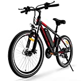 ENGWE Electric Bicycle for Adults 250W 26''Electric Mountain Bike Commuter Ebikewith 21 Speed Gears and Removable 36V 8Ah Lithium Battery up to 25 Miles