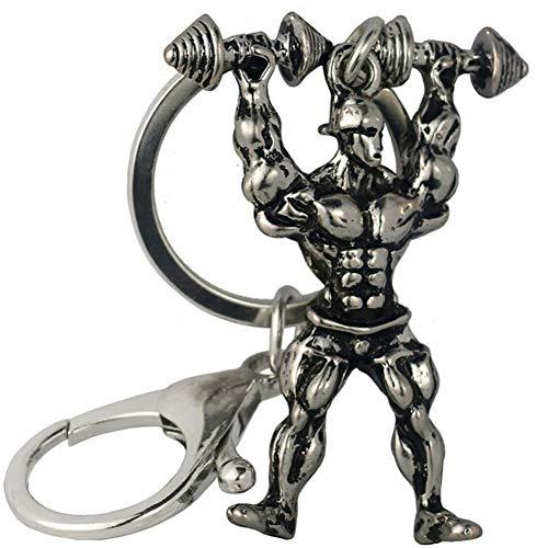 XHYKL sleutelhanger van metaallegering, voor heren, sterk, voor fitness, bodybuilding, sleutelhanger, portemonnee, sleutelring, Palestra
