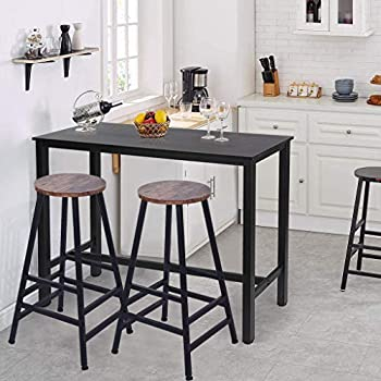 Ridkodg Set of 2 Stainless Steel Stand Bar Stools