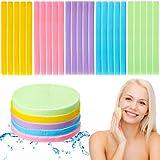 108 Piezas Esponjas Faciales Comprimidas Esponja Desmaquilladora Colorida Almohadilla de Esponja Limpiadora Facial Esponja Facial Redonda Exfoliante de Lavado para Niña Mujer (Morado)