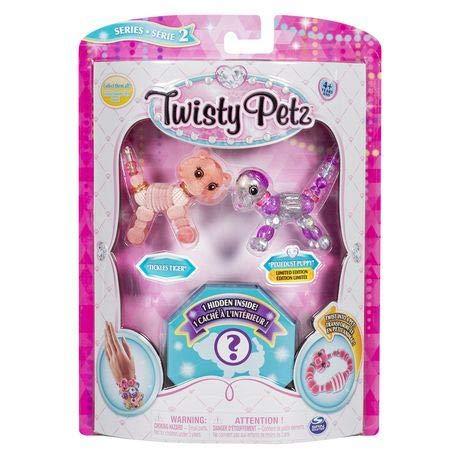 Twisty Petz - Serie 2 - 3er Pack - kitzelt Tiger und Pixiedust Puppy