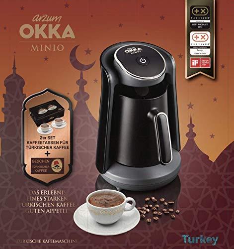 Arzum Okka MINIO turecki ekspres do kawy z kasami mokki i zestawem do kawy