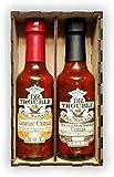 Caja de salsa de chili africano 2 x 125 ml (salsa de limón y chili ahumado de roble doble)
