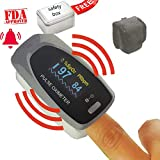 Finger Tip Pulse Oximeter With Audio Visual Alarm and Respiratory Rate(Blue)