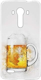 スマホケース ハードケース LG isai vivid LGV32 用 [水彩画・ビール] ビンテージ デッサン エルジー イサイ ビビッド au スマホカバー 携帯ケース 携帯カバー vintage_00r_h162@02