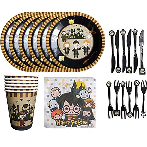 PAWT Wizard Theme Party Supplies Harry Potter Theme Party Supplies Set Birthday Tableware Decoration Party Supplies