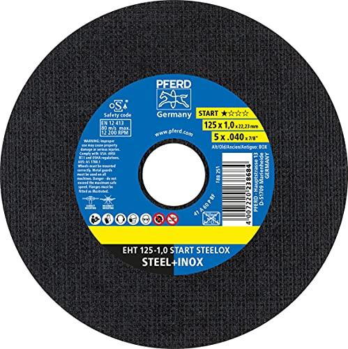 PFERD 69198290 acero inoxidable (INOX), Trennscheiben 125 x 1,0 x 22,23 mm