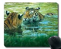 YENDOSTEENマウスパッド滑り止め、タイガーウォータープールビッグキャットネコワイルドライフネイチャーラバーマウスパッド