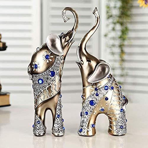 AMITD Resin Crafts Elephant Decoratie Creative Home Decoration woonkamer TV kast Decoratie Toepassing voor slaapkamer en werkkamer set set