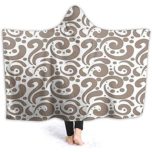 Henry Anthony 40X50 Inch Hooded Throw Wrap Streifen Little Stars Komplex Hexag al Dunkelblau Hellblau Apricot Ultra Soft Plüsch gefüttert Freizeitbekleidung, Wear