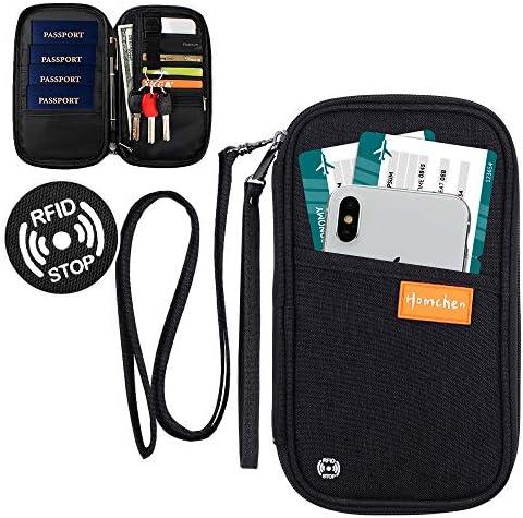 RFID Blocking Family Passport Wallet Holder Waterproof Travel Document Organizer Credit Card product image