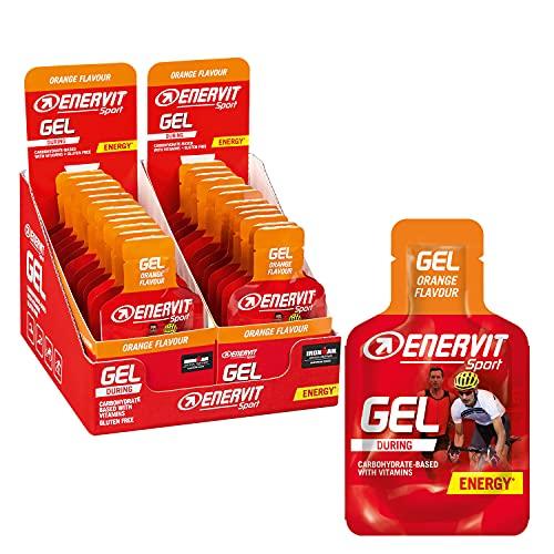 Enervit Enervitene Sport Gel Pack Carboidrati E Vitamine Gusto Arancia, Box Da 24 pz Da 25 ml
