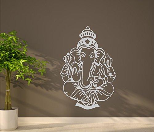 Wandtattoo Ganesha Aufkleber Ganesha indischer Gott indische Göttin Wandaufkleber 60 x 60 cm in 33 Farben matt oder glänzend