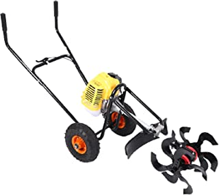 QILIN Garden Cultivator, Hand-push Gasoline Tiller/mower, 42.7cc 1.2KW Engine, Light and Convenient, Low Fuel Consumption