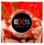 EXS Strawberry Flavoured Oral Latex Condoms - 24