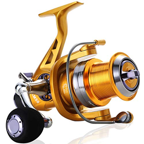 Carrete Giratorio 50-60 5.2: 1 Relación de Engranaje Derecha Izquierda Carrete de Bobina de Pesca Intercambiable 11 + 1BB Carrete de Carpa alimentador Gold 6000 Series
