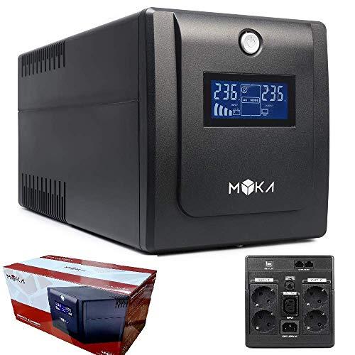 UPS GRUPPO DI CONTINUITA' MYKA 2000VA LABOR PRO LCD 4x SCHUKO, 1x IEC13, RJ11 LINE-INTERACTIVE MK-1025