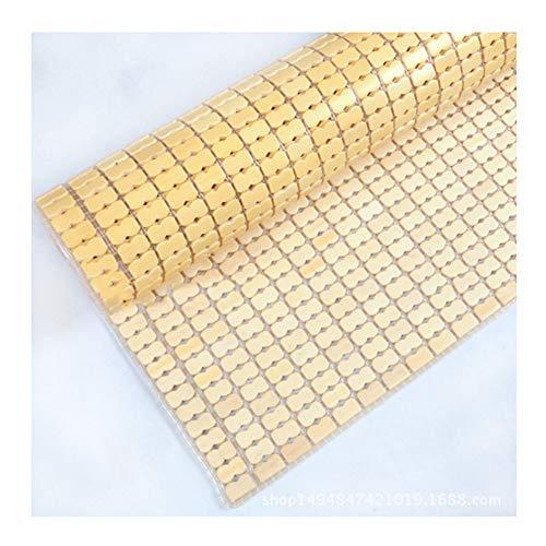 QWET Opvouwbare Mahjong Mat (79x86) -Bamboe Sheet, Rundvlees pees lijn en vislijn weven-voor een koele, comfortabele slaap in de zomer (2 stuks), A