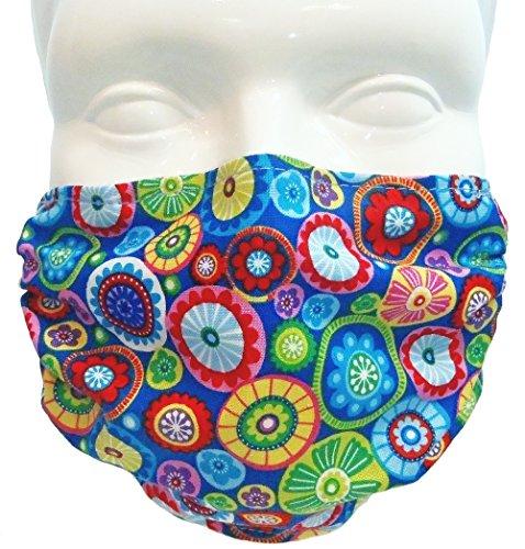 Breathe Healthy Face Mask; Adjustable Ear Loops, Washable; Medallions Design (Adult)