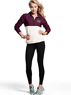 Victoria's Secret Bling Pink High/Low Half Zip & Campus Legging In Gift Box (Both Large)