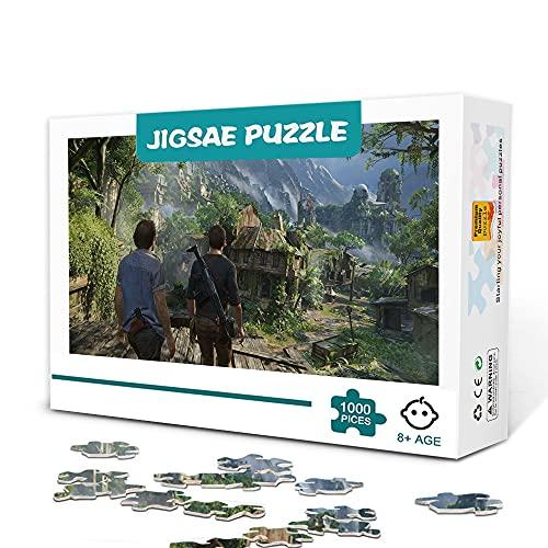 CHDBB 300 Stück Puzzles Erwachsene Klassisches Spiel Uncharted 4: EIN Dieb Ende Holz Puzzle Puzzle Unterhaltung Familienspiele Puzzle Home Decoration 38x26cm