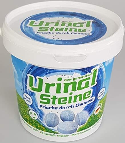 New Generation Urinal Steine Beckensteine 1 KG 100{c0dd2037f77dd85a728fbaa1b4ea4a63d63a7b3f401a3357354baf76426f3320} biologisch abbaubar - Angenehmer Duft durch Osmose - Mirkoorganismen gegen Uringeruch - Rückstandsfrei - Made in Germany - PDCB frei