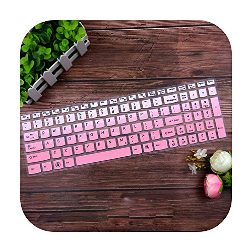 Silicone Keyboard Protector Cover Skin for Lenovo G580 G570 G575 G585 G510 G505 G500 G501 G700 B580 B570 B575 B575E B590 M5400-Gradualpink-