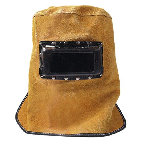 Comfortable Leather Welding Helmet, Welder Grinding Protective Gear Work Cap Hat With Auto Darkening Lens Glasses Welding Flame Heat Resistant Anti-dust Head Face Neck Shield Safety Hood Helmet. Buy it now for 20.49