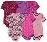 Care Baby - Mädchen Kurzarm-Body 3er und 6er Pack Pink