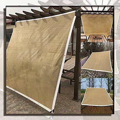 GAOYUY Malla Sombreadora Sun Net, Paño De Sombra Sábana para El Sol Courtyard Pavilion Toldo para Solárium Material PE Duradero para Jardín, Patio Y Cochera (Color : Beige, Size : 4X8M)