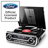 ION Audio Mustang LP - Centro de Música 4-en-1 con Diseño de Radio de Coche Clásico, con...