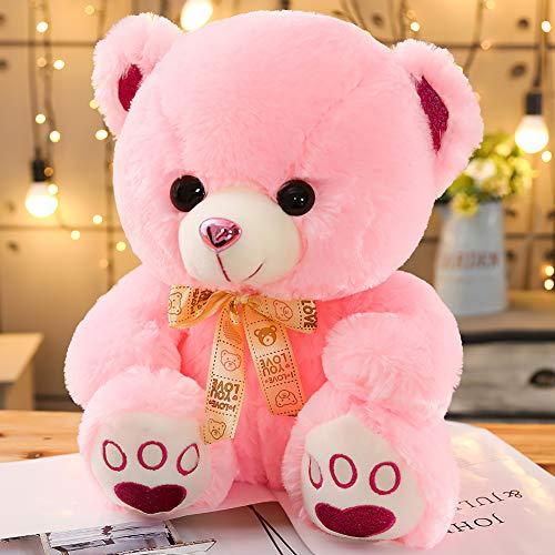 Oso de peluche de regalo XXL de osito de peluche, para habitación infantil, infantil, de color rosa, 50 cm
