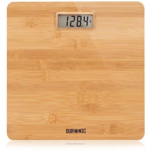 Duronic BS503 Bilancia pesapersone digitale | Capacità fino a 180 kg | Bilancia digitale con schermo LCD | Design in bambù ecologico | Bilancia ad alta precisione con tecnologia Step-on