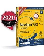 Norton 360 Deluxe 2021, Antivirus per 5 Dispositivi, Licenza di 15 mesi con rinnovo automatico, Secure VPN e Password Manager, PC, Mac, tablet e smartphone