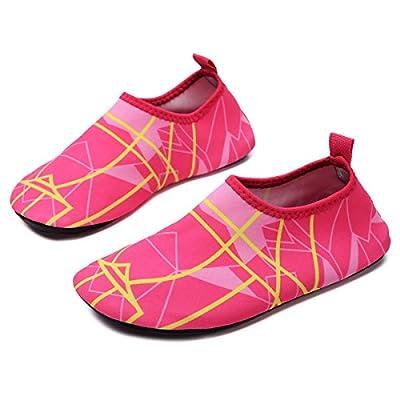QTMS Kids Boys Girls Water Shoes Barefoot Quick Dry Aqua Socks Swim Shoes