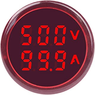 SINOTIMER ST16VA Red Round LED Dual Display AC Voltmeter Ammeter Digital Voltage Current Ampere Meter Indicator 60-500V 100A