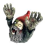 Estatua de gnomos Zombis para el jardín Adornos Enanos de gnomo Aterrador Resina Horror Jardín de gnomos Zombis Decoraciones aterradoras | Figuras y miniaturas