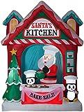 10ft Airblown Santa's Vintage Kitchen Scene Giant Inflatable