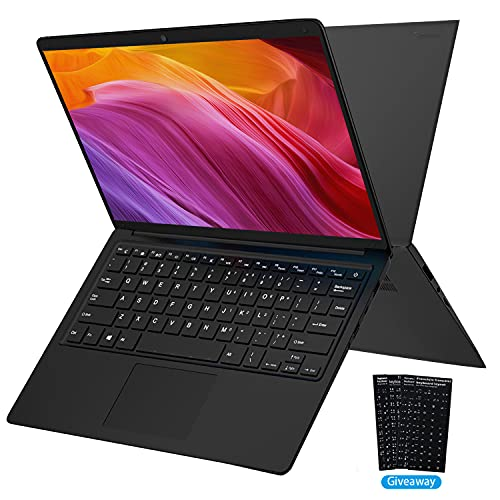 PC Portatile in offferta 14 pollici , Windows 10 Computer Portatile Intel HD Graphics Notebook, 4GB+64GB/2 TB espandibile ,Grafica integrata, 1920 * 1080 Ultrabook 2.4 GHZ WiFi/HDMI/Bluetooth (nero)