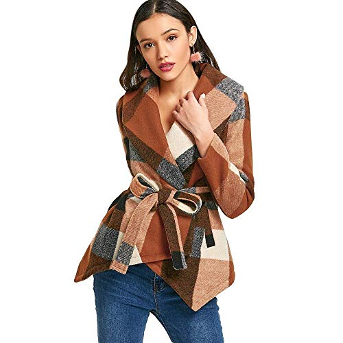 Dames Coat Vintage Fashion Classic geruit elegante jas lange mouwen slim fit jongens