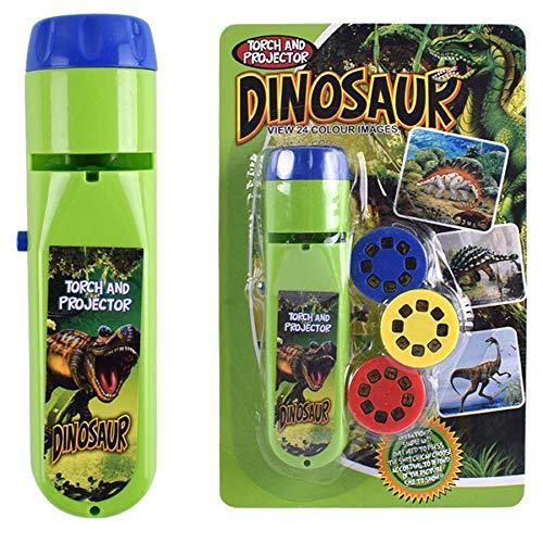 Georgie Porgy Kinder Projektor Taschenlampe Beamer Spielzeuge zum Wand Decke Zelt Lehrreich Wissenschaft Einstellen (Dinosaurier)