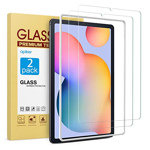 apiker 2 Pack HD Tempered Glass Screen Protector Compatible with Samsung Galaxy Tab S6 Lite 10.4 inch with Alignment Frame