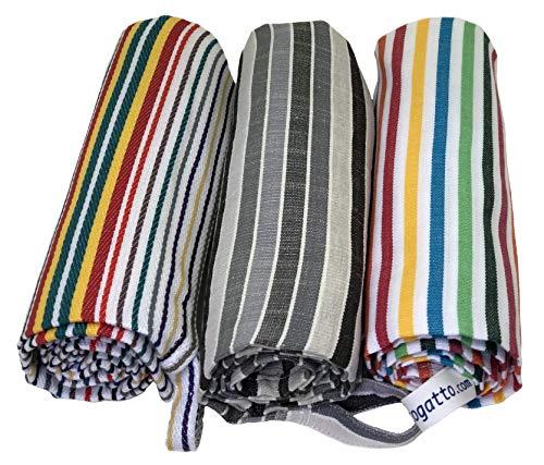 Strofinaccio Canovaccio Torcione 3 Asciugamani da Cucina di Cotone Misura Grande 60x85, Colorati, Prodotti in Italia